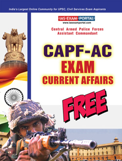 CAPF-AC Current Affairs PDF