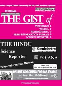 Original 'The Gist' of The Hindu, Yojana, Kurukshetra, PIB ...