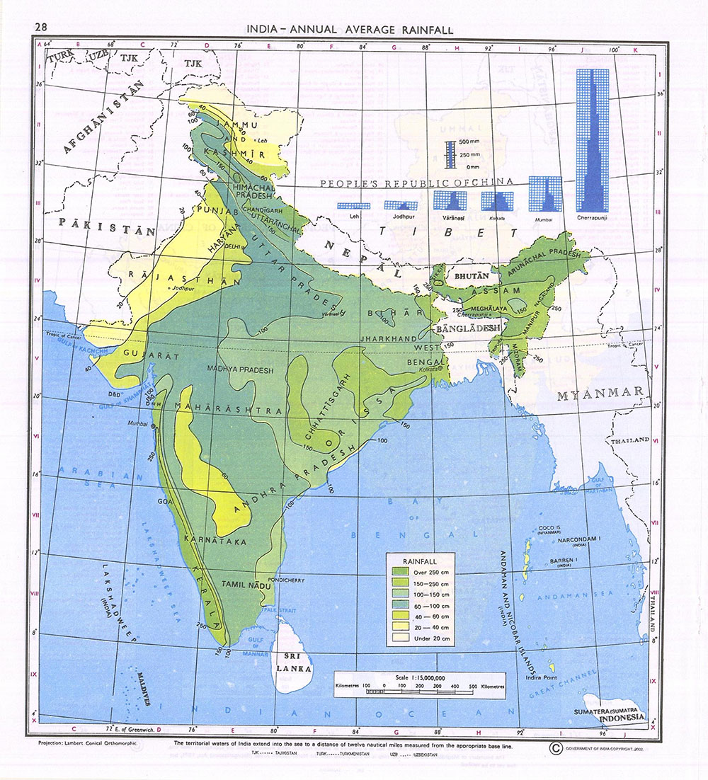 Download india maps for upsc exams ias upsc exam portal indias maps survey of india india average rain fall gumiabroncs Images