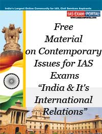 Study Material on Contemporary Issues for UPSC Exams: (India and