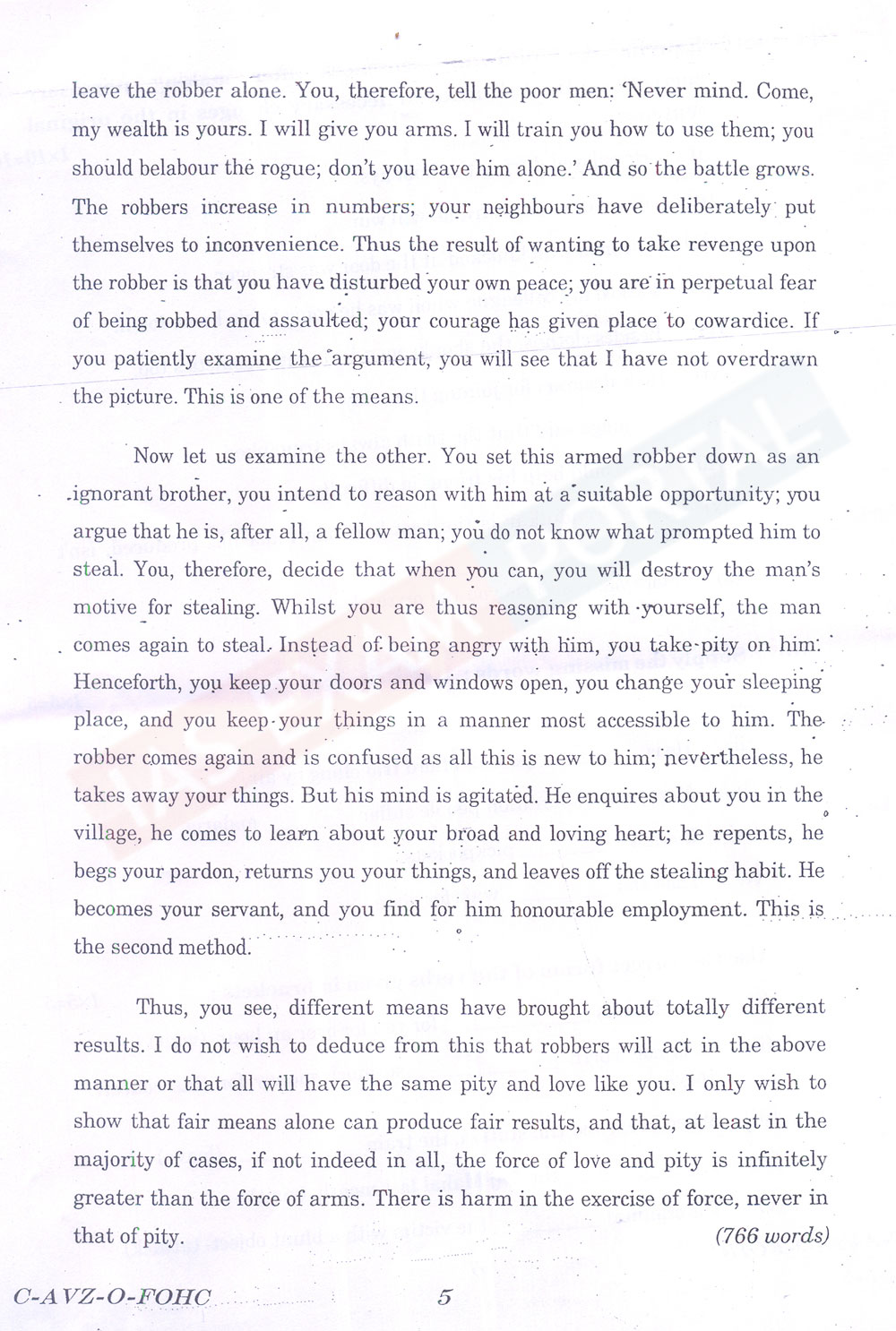 essay paper for ias exam