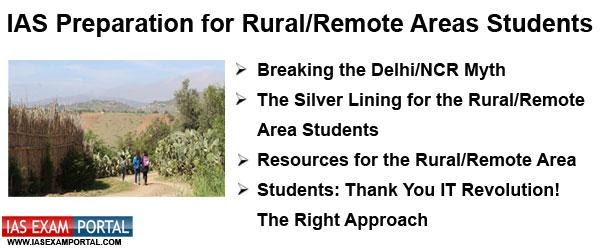 Getting Started) IAS Preparation for Rural/Remote Areas Students | IAS EXAM  PORTAL - India's Largest Community for UPSC Exam Aspirants.