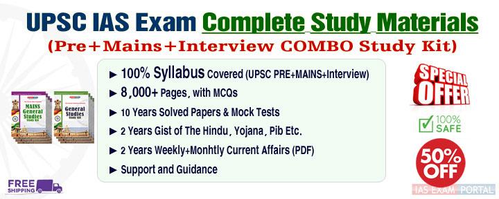 UPSC IAS Exam Complete Study Materials